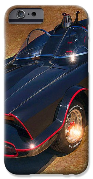 Batmobile iPhone Case by Tommy Anderson