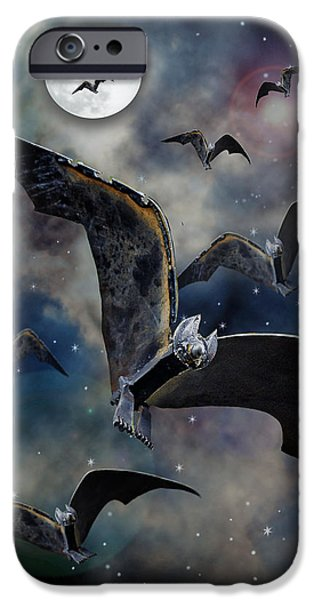 Full Sculptures iPhone Cases - Bats iPhone Case by Ric Pollock
