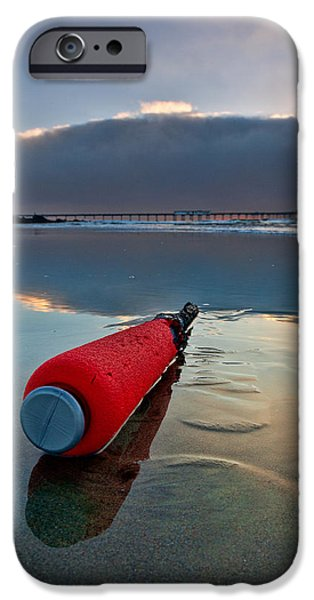 Batter-ed by the Sea iPhone Case by Peter Tellone