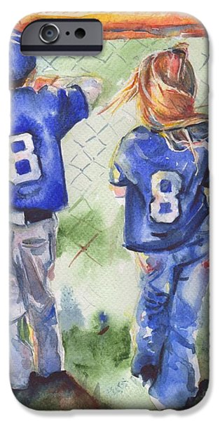 Youthful iPhone Cases - Batter Up iPhone Case by Maria
