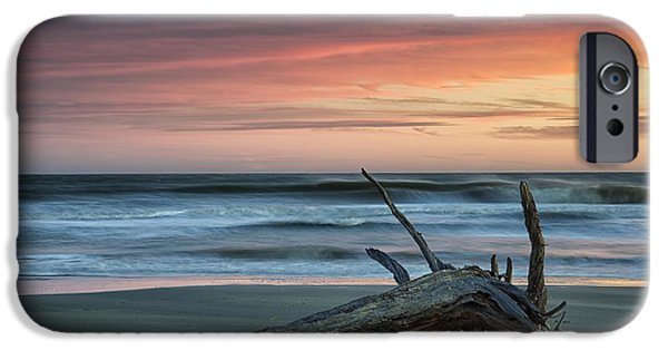 Beach Landscape iPhone Cases - Battered Driftwood iPhone Case by Phill  Doherty