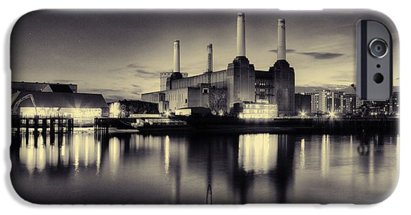 River View iPhone Cases - Battersea Power Station iPhone Case by Ian Hufton