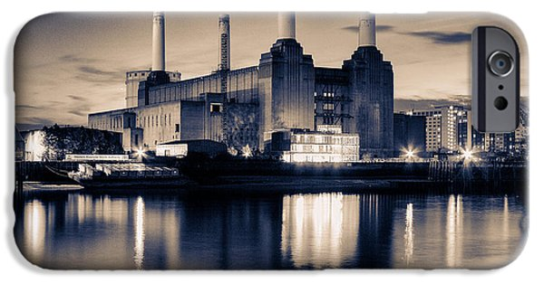 River View iPhone Cases - Battersea Power Station London iPhone Case by Ian Hufton