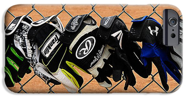 Mounds Digital iPhone Cases - Batting Gloves iPhone Case by Ron Regalado