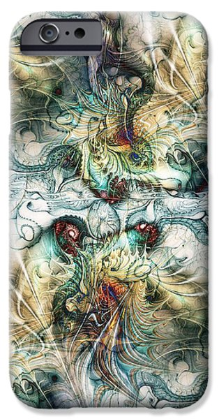 Abstract Digital iPhone Cases - Battle Field iPhone Case by Anastasiya Malakhova