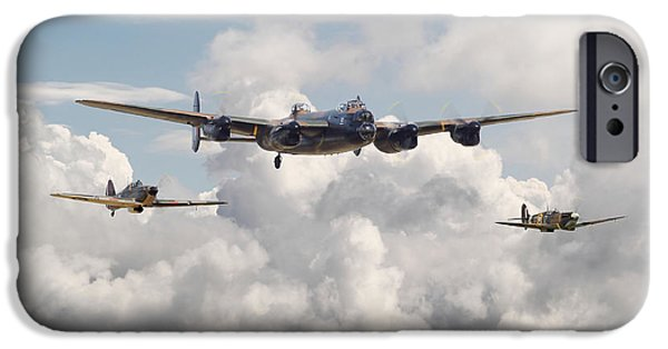Memorial Digital iPhone Cases - Battle of Britain - Memorial Flight iPhone Case by Pat Speirs