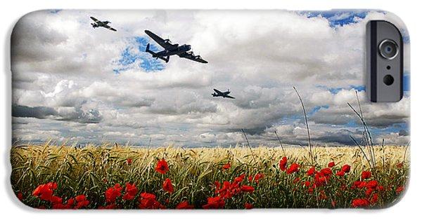 Flight iPhone Cases - Battle Of Britain Memorial Tribute  iPhone Case by J Biggadike