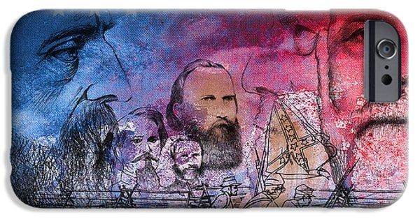 Battle Of Gettysburg Digital iPhone Cases - Battle of Gettysburg Tribute Day One iPhone Case by Joe Winkler