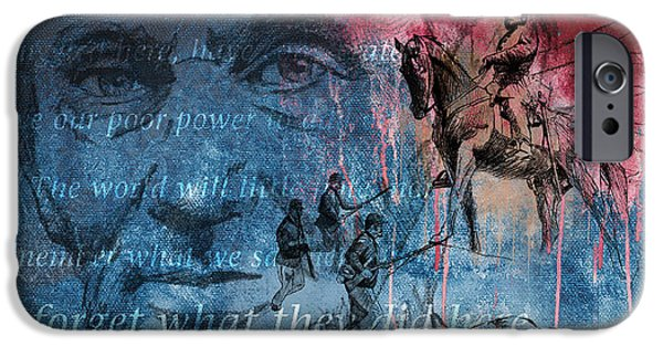Statue Of Confederate Soldier iPhone Cases - Battle Of Gettysburg Tribute Day Three iPhone Case by Joe Winkler