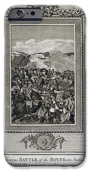 King James iPhone Cases - Battle Of The Boyne iPhone Case by British Library