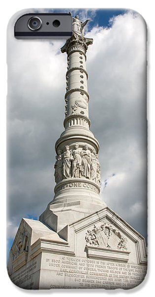 Yorktown Virginia iPhone Cases - Battle of Yorktown Memorial iPhone Case by John Bailey