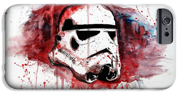 Bloody Battle iPhone Cases - Battle Trooper iPhone Case by Joseph Everson