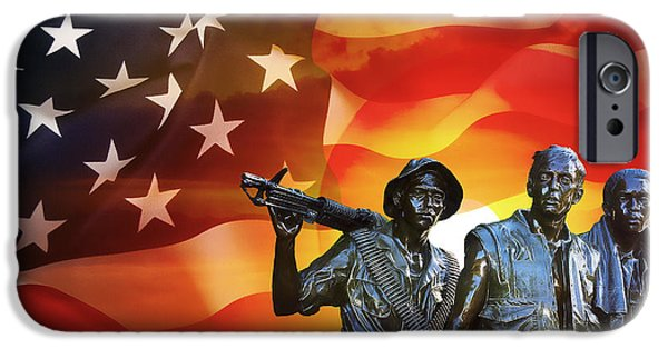 Recently Sold -  - Iraq iPhone Cases - BATTLE VETERANS of the UNITED STATES iPhone Case by Daniel Hagerman