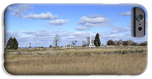 Battlefield Site iPhone Cases - Battlefield at Gettysburg National Military Park iPhone Case by Brendan Reals