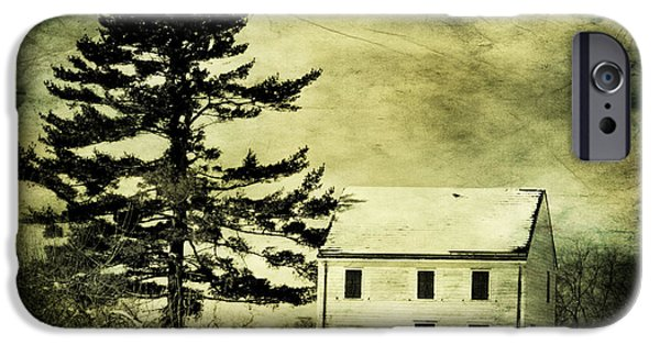 Business iPhone Cases - Battlefield Farmhouse with texture iPhone Case by Geraldine Scull