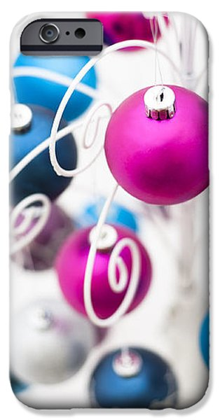 Baubles From Above iPhone Case by Anne Gilbert