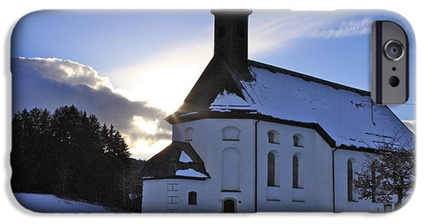 Wintertime iPhone Cases - Bavarian Winter Afternoon iPhone Case by Ellen and Udo Klinkel