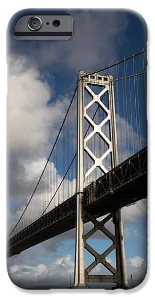 Bay Bridge iPhone Cases - Bay Bridge after the Storm iPhone Case by John Daly