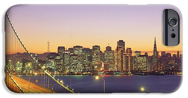 Connection iPhone Cases - Bay Bridge At Night, San Francisco iPhone Case by Panoramic Images