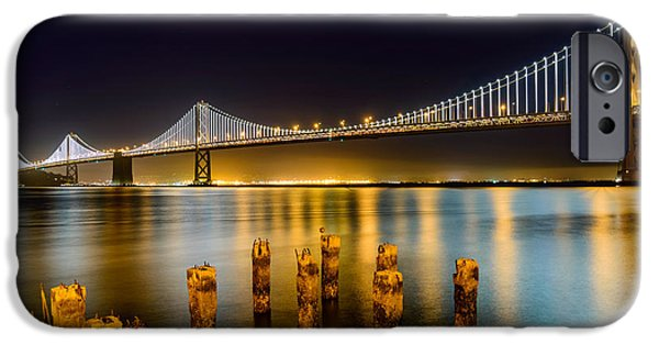 Bay Bridge iPhone Cases - Bay Bridge iPhone Case by Mike Ronnebeck