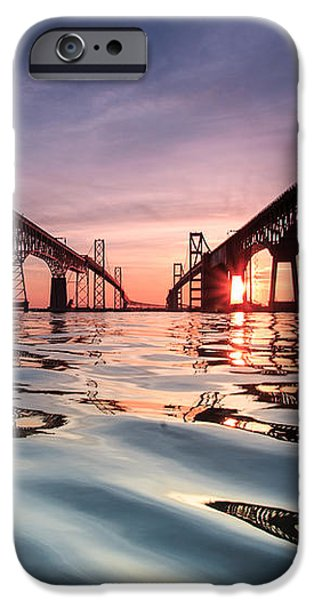 Bay Bridge Reflections iPhone Case by Jennifer Casey