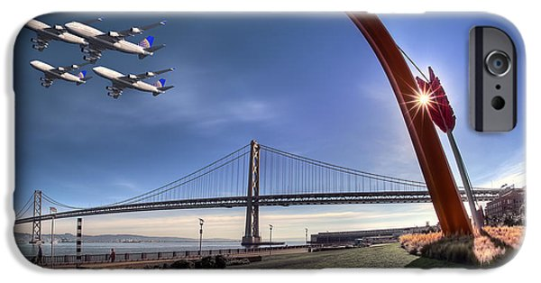 Oakland Bay Bridge iPhone Cases - Bay Bridge Salute iPhone Case by Sean Foster