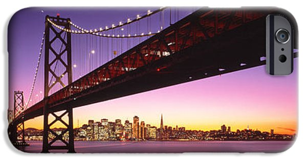 Bay Bridge iPhone Cases - Bay Bridge San Francisco Ca Usa iPhone Case by Panoramic Images