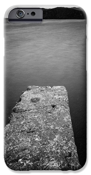 Pier Digital Art iPhone Cases - Bay Pier iPhone Case by Adrian Evans