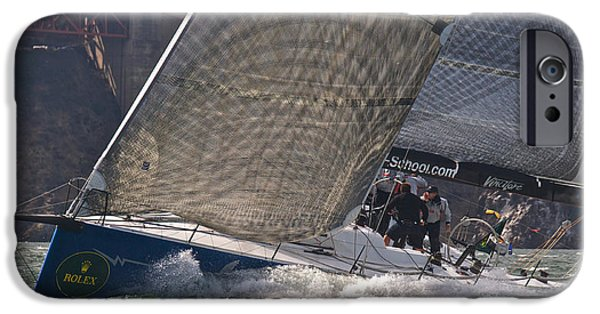 Alcatraz iPhone Cases - Bay Rolex Regatta iPhone Case by Steven Lapkin