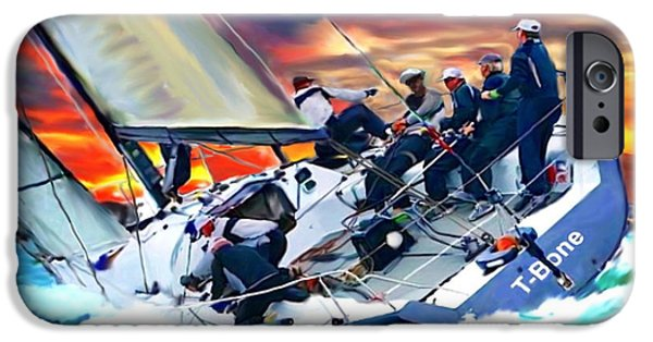 Recently Sold -  - Sailboat iPhone Cases - Bay Sail by Tom Sachse iPhone Case by Tom Sachse