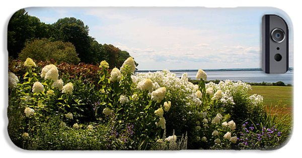 Seacapes iPhone Cases - Bay view Bristol Rhode Island iPhone Case by Tom Prendergast