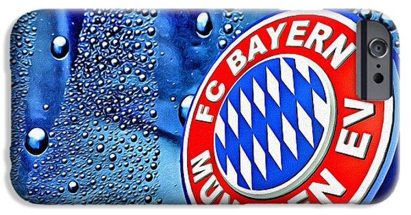 Bayern iPhone Cases - Bayern Football Club Art iPhone Case by Florian Rodarte