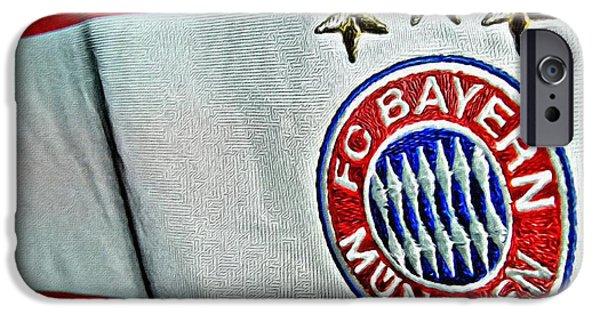 Bayern iPhone Cases - Bayern Munchen Poster Art iPhone Case by Florian Rodarte