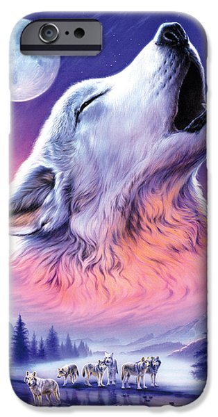 Animals Photographs iPhone Cases - Baying to the Moon iPhone Case by Andrew Farley