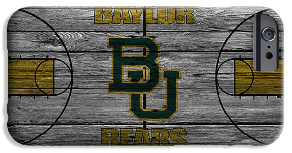 Division iPhone Cases - Baylor Bears iPhone Case by Joe Hamilton