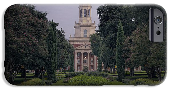 Buildings iPhone Cases - Baylor University Icon iPhone Case by Joan Carroll