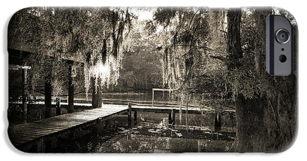 Swamps iPhone Cases - Bayou Evening iPhone Case by Scott Pellegrin