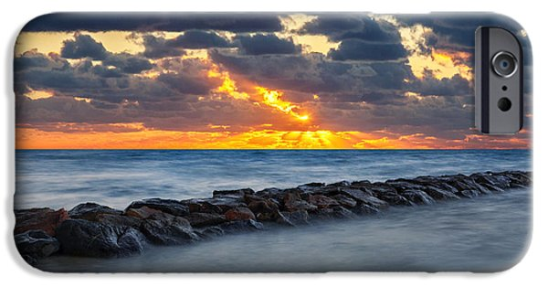Cape Cod Landscapes iPhone Cases - Bayside Sunset iPhone Case by Bill  Wakeley