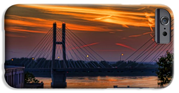 Bay Bridge iPhone Cases - Bayview Bridge  At Sunset- Luther Fine Art iPhone Case by Luther Fine Art