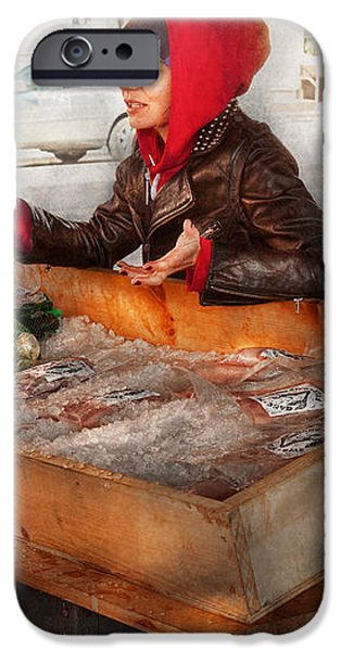 Bazaar - I sell fish  iPhone Case by Mike Savad