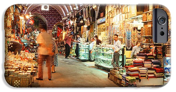Merchants iPhone Cases - Bazaar, Istanbul, Turkey iPhone Case by Panoramic Images