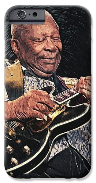 B.b.king iPhone Cases - B.B. King II iPhone Case by Taylan Soyturk