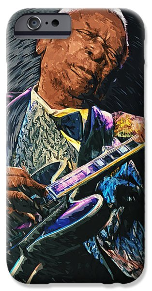 B.b.king iPhone Cases - B.B. King iPhone Case by Taylan Soyturk