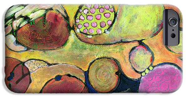 Abstract Expressionist iPhone Cases - Be Courageous Abstract Art Blenda Studio iPhone Case by Blenda Studio