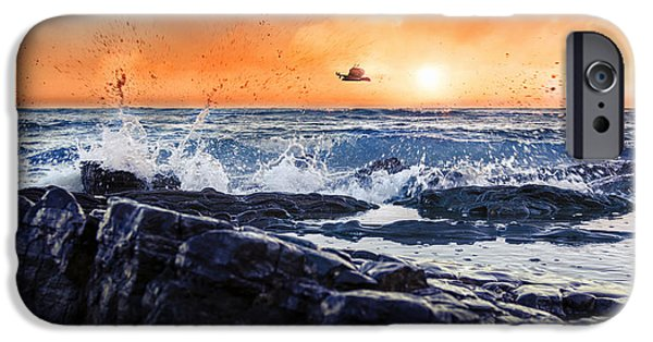 Ocean Reliefs iPhone Cases - Be Free iPhone Case by Sami Matar