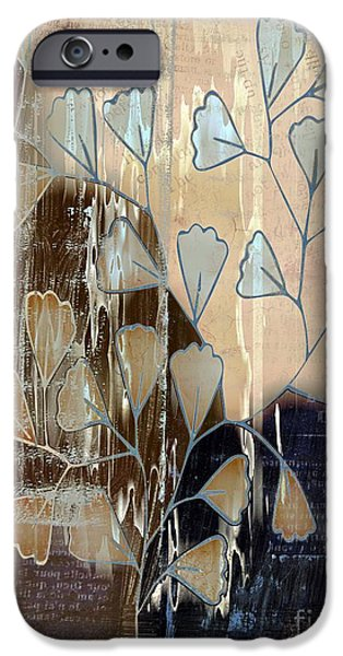 """""""variance Collections"""" iPhone Cases - Be-Leaf - Beige a05t3a iPhone Case by Variance Collections"""