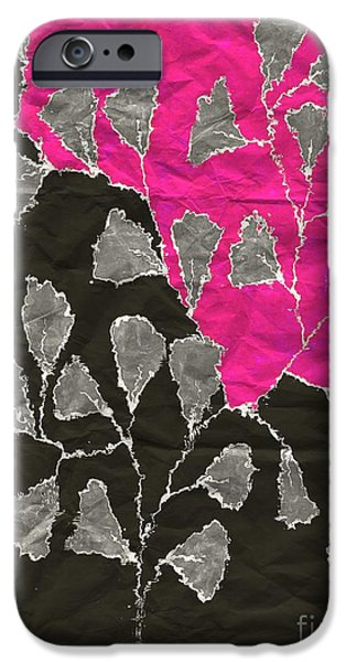Fushia iPhone Cases - Be-Leaf - Pink 03-01at4 iPhone Case by Variance Collections