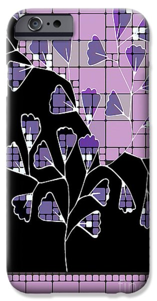 Red Leaf Digital Art iPhone Cases - Be-Leaf - Purple 03-a01cb iPhone Case by Variance Collections