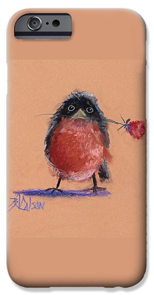 Baby Bird Pastels iPhone Cases - Be Mine iPhone Case by Billie Colson