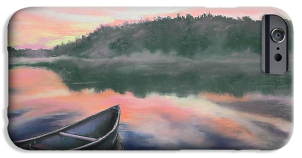 Fog Mist Pastels iPhone Cases - Be Still  iPhone Case by Cathy Weaver